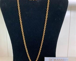 Gold Star Necklace and Gold Earrings