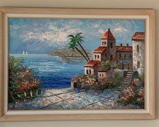 Mediterranean Sea Scape Painting