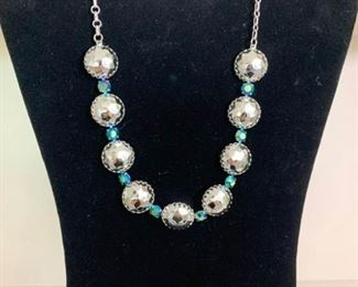 Silver Necklace with Matching Earrings