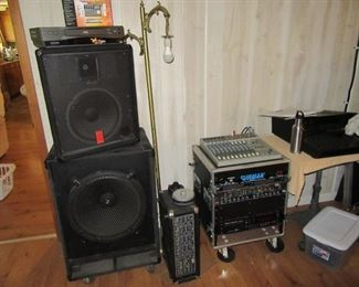 PA speakers, PA system