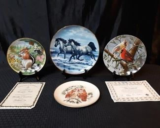 Animal themed collectible plates