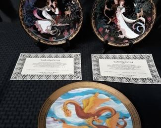 Asianinspired decorative plates