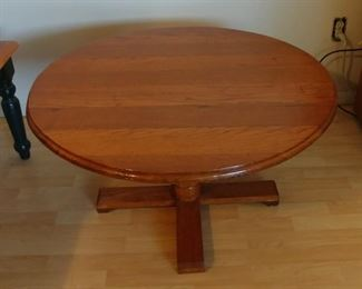 """Round Oak Coffee Table 34"""" round by 18.5"""" Asking $159.00"""