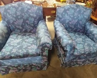 Set of Blue Club Chairs Asking $290.00 for the pair.