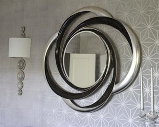 Christopher Guy Oval 2 tone mirror