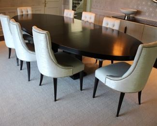 Bolier & Co. Domicile Pier Oval Dining Table;  8 Baker Salon dining Chairs