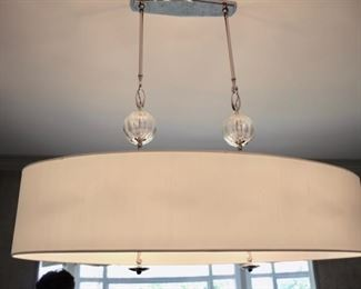 Colura & Co custom oval chandelier