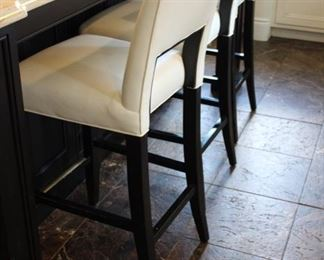 "3 Charles Stewart ""Sunrise"" counter stools"