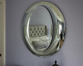 Chrome oval mirror