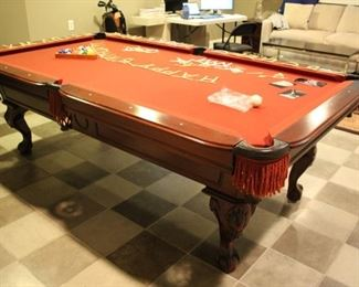 Pool Table with Joola Ping Pong Top and accessories