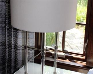 Lucite & chrome table lamp