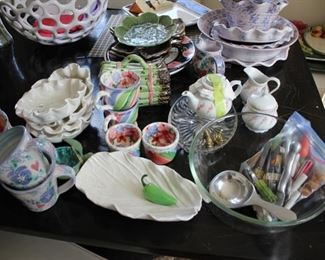 Kitchen wares; pottery dishes
