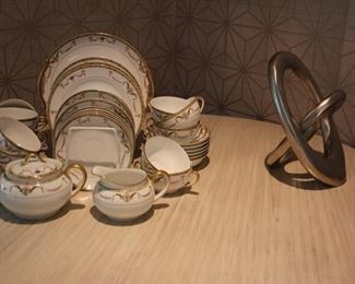 "Noritake ""Sahara"" tea set"