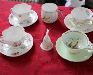 Shelley cups & saucers & other