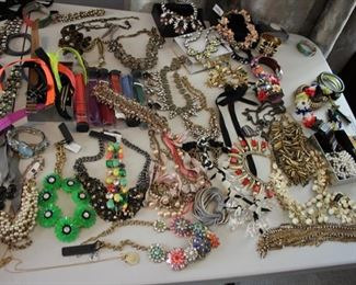large lot of J. Crew costume jewelry  - most NEW with tags - statement necklaces, bracelets, earrings……