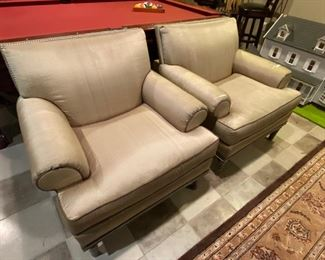 Pair Council armchairs