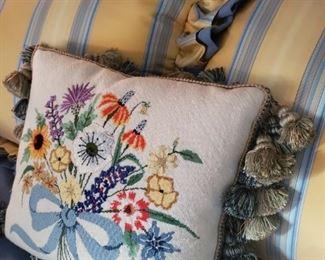 lovely needlepoint pillow