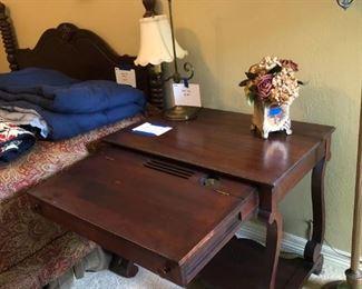 mahogany library table/desk and mahogany bed