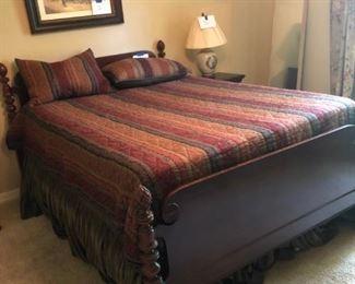 mahogany full size bed