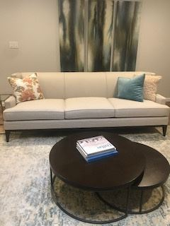 Mitchell Gold White linen sofa from $1200