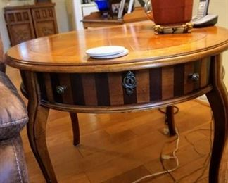 Inlay wooden side table.