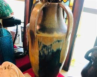 Unsigned large Fulper like arts & crafts antique vase