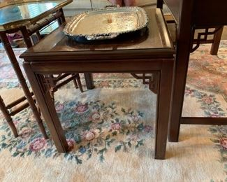 #8	Elizabeth signature Drexel Heritage writing desk w/3 drawers  Inlay top 45x24x29	 $175.00