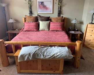 King Bedroom set and End Tables