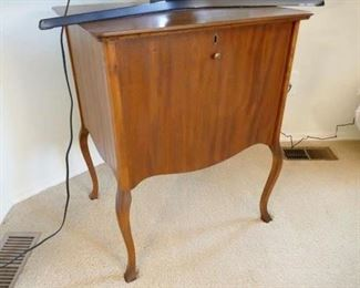 """$75 - Vintage record cabinet / stand. Has key. 24"""" w x 30"""" h x 20"""" d (later)"""