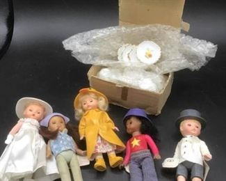 005 Madame Alexander Dolls and Miniature Tea Set