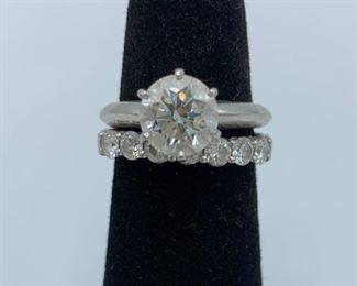 Tiffany Platinum and Diamond Wedding Set