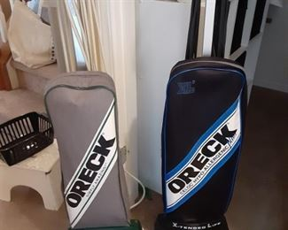 Uprights and car vacs from Oreck