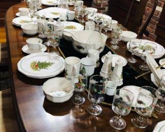 Christmas China and Glassware