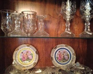Candle holders; plates; candy dishes
