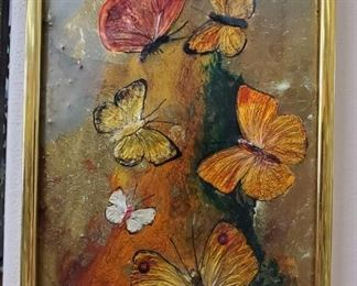 """Enameled copper Helen Wilson painting, 6.5"""" w x 10.5"""" h - $30   ***Please note:  California sales tax will be charged on all purchases unless you have a valid California resale certificate on file with us.***"""