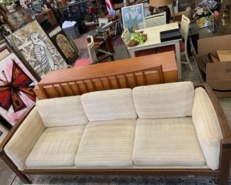 """Moreddi for Raymor Sofa (as is, 85"""" w x 30"""" d x 15"""" h at seat, 29"""" h at back) - New Price $375. ***Please note: California sales tax will be charged on all purchases unless you have a valid California resale certificate on file with us.***"""