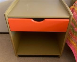 3pc Set: Mid Century Twin Head & Foot Board, Night Stand & Dresser - New Price $150. ***Please note: California sales tax will be charged on all purchases unless you have a valid California resale certificate on file with us.***
