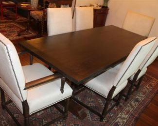 """Custom Made Trestle Dining Table,  29"""" H x 34"""" W x 74"""" L  Walnut Base w/ solid Pine Top made in Massachusetts. New Price $950 Table Only.   ***Please note: California sales tax will be charged on all purchases unless you have a valid California resale certificate on file with us.***"""