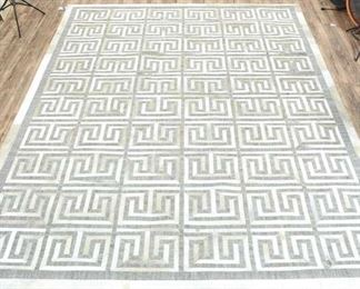 9.5X13.5' Hand Stitch Hide Berlin Silver/Ivory Area Rug