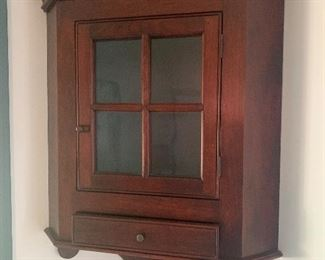 "D. R. Dimes Corner Cupboard! 41."" High.  ~ Large Gorgeous Antique Hanging Corning Cabinet WOW"