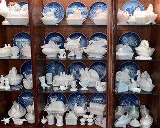 Huge beautiful collection of Milk Glass Westmoreland
