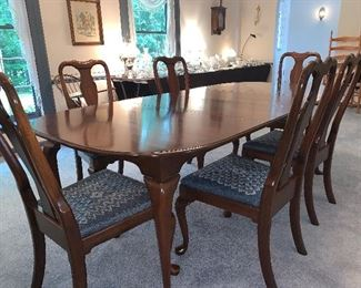 Cherry Dining Room Table, Chairs & China Cabinet