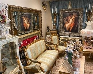 Italian and French furniture and decoration
