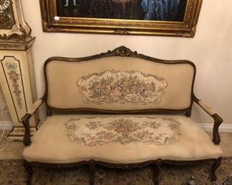 Tapestry sofa