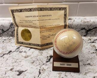 Barry Bonds Signed Baseball https://ctbids.com/#!/individualEstateSales/316/6291