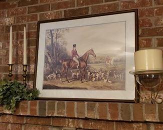 Fox Hunting Print & Candle Decor
