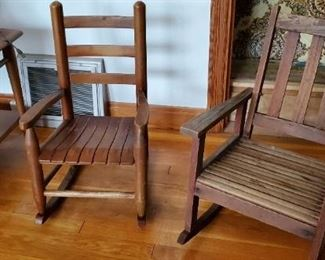 antique childs rocking chairs