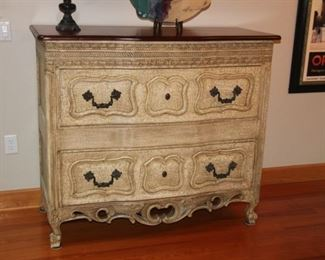 Huge crackled chest with hidden compartment.