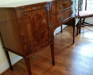 """Antique English mahogany sideboard, 6' wide by 2' 2"""" deep and 3' 3"""" tall"""