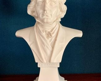 """Item 87:  Beethoven Bust - 10.5"""", made in Italy: $95"""